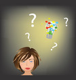 woman has an idea vector image vector image
