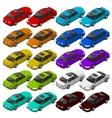 Flat isometric car vehicle city transport vector image