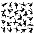 Break Dance silhouettes vector image