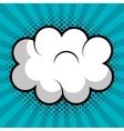 cloud speech pop art design vector image
