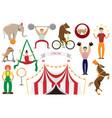 a set of flat of circus artis vector image