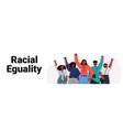 african american people activists holding raised vector image vector image