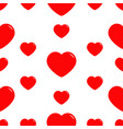 big red heart seamless pattern wrapping paper vector image vector image