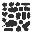 blank empty speech bubbles vector image