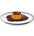 caramel chocolate custard pie vector image