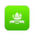 china ship icon green vector image vector image