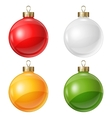 Christmas balls isolated on white for design vector image vector image