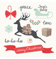 Christmas Elements and Symbols vector image vector image