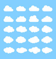 cloud abstract white cloudy set isolated on blue vector image vector image
