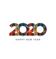 color check plaid fabric texture 2020 happy new vector image vector image