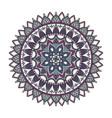 color floral mandala vector image vector image
