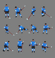 colored hockey player set vector image vector image