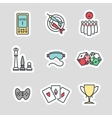 Colorful game stickers