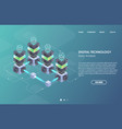 concept big data processing isometric data vector image vector image
