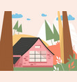 country modern house in forest landscape vector image
