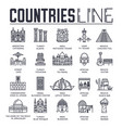 country travel collextion set set of architecture vector image vector image