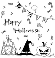 Cute hand-drawn Halloween vector image vector image