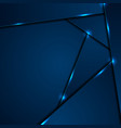 dark blue corporate background with glowing lines vector image vector image