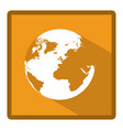 emblem earth planet icon vector image vector image