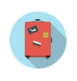 Flat Design Concept Suitcase With Long Shado vector image vector image