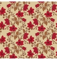 floral seamless with red flower vector image vector image