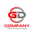gd logo vector image