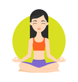 girl practicing yoga exercises Healthy lifestyle vector image