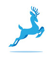 graceful deer with antlers jumping and grazing vector image