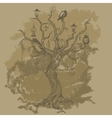 Grungy paper background with tree vector image vector image