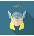 Hero Mask in a quality superhero helmet into flat vector image