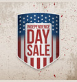 independence day background with usa flag shield vector image vector image