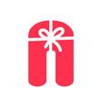 initial n gift logo vector image vector image