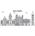 italy parma line skyline vector image