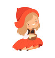 little red riding hood character from fairy tale vector image