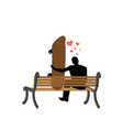 lover skateboarding guy and skateboard sitting on vector image vector image