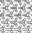 Monochrome rough striped small tetrapods vector image vector image