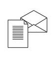 new letter envelope icon vector image vector image