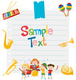 paper design with musical instruments vector image vector image