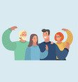 people avatars group friends vector image