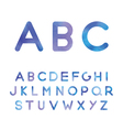 picturesque alphabet in blue shades vector image vector image