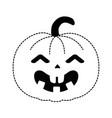 pumpkin hallooween decorative icon vector image vector image