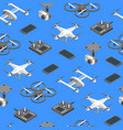 quadcopter and equipment technology control vector image vector image