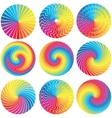 Raibow Color Wheels Design Elements vector image vector image