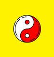 red yin and yang symbol vector image