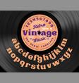 retro vintage serif bold typeface vector image vector image