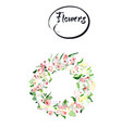 rose flower wreath floral circle border frame vector image vector image