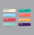 set modern gradient app website page or game vector image