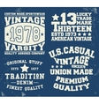 Set vintage stamp vector image