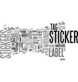 sticker word cloud concept vector image vector image