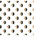 sushi roll pattern vector image